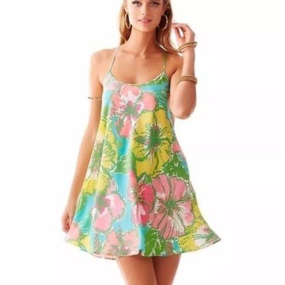 Lilly Pulitzer Maisy Silk Strappy Racerback Dress